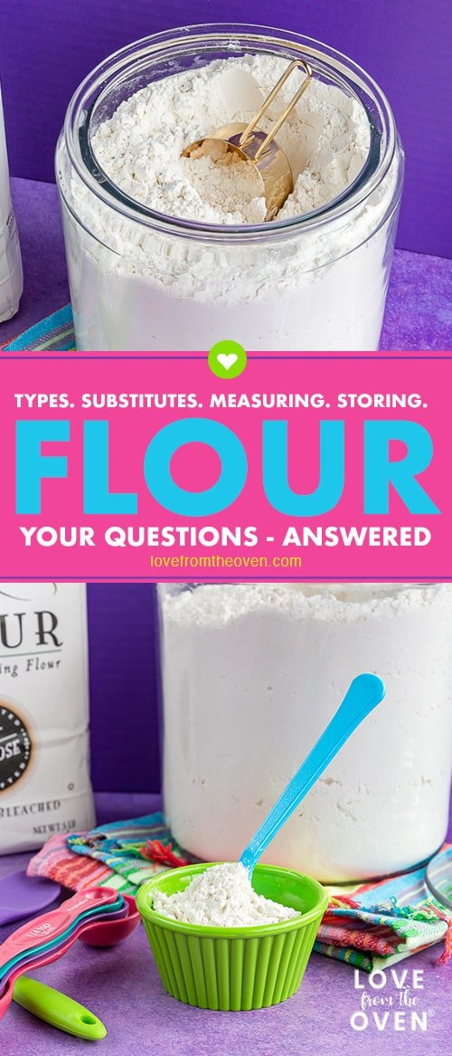 Several images of flour