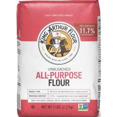 A bag of all purpose flour