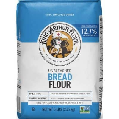 a bag of bread flour