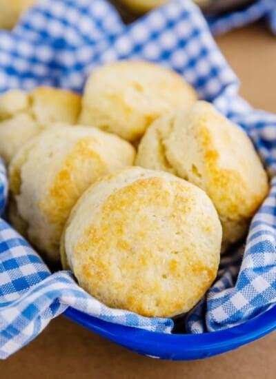 Several buttermilk biscuits