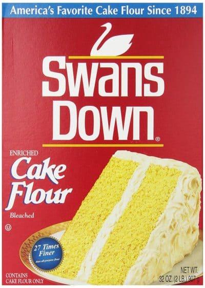 A box of cake flour