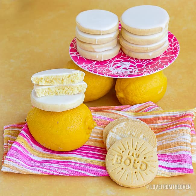 Stacks of lemon cookies