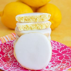 Several lemon cookies
