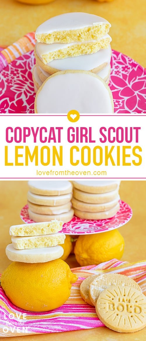 several images of lemon cookies