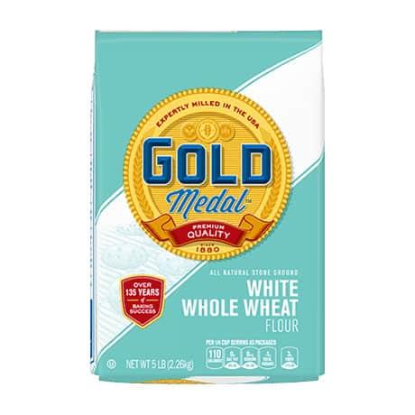 A bag of white whole wheat flour