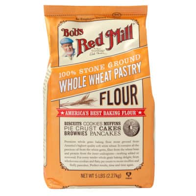 a bag of whole wheat pastry flour
