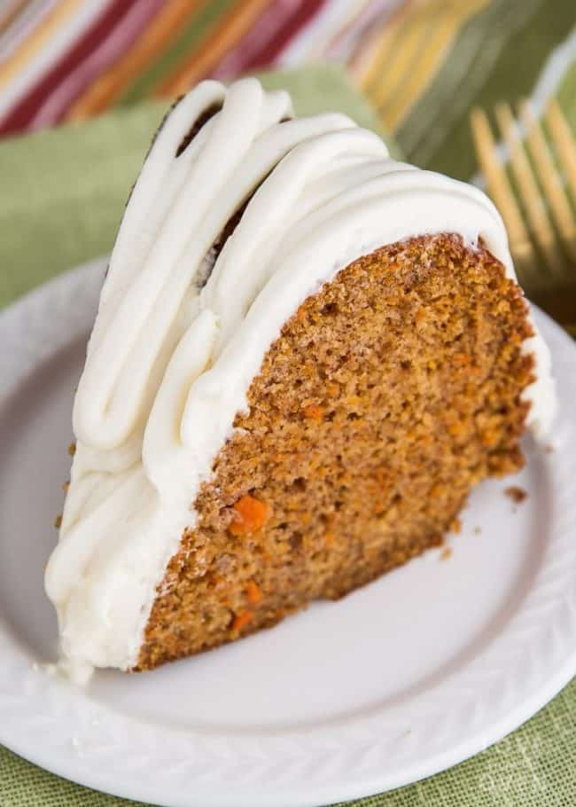 A piece of carrot cake on a plate,
