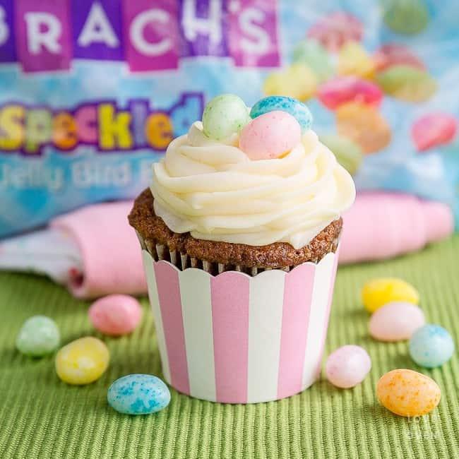 A carrot cake cupcake
