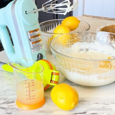 Lemon pie ingredients