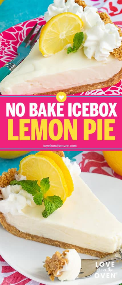 Several images of lemon pie