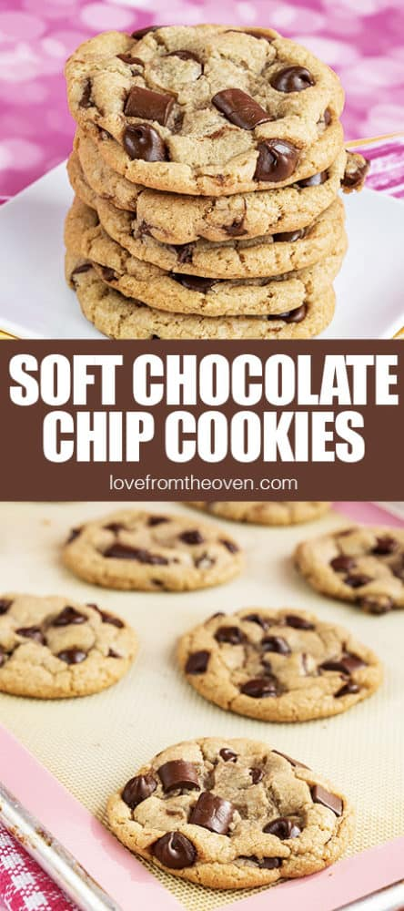 Several photos of Chocolate chip cookies