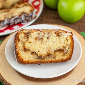a slice of apple bread