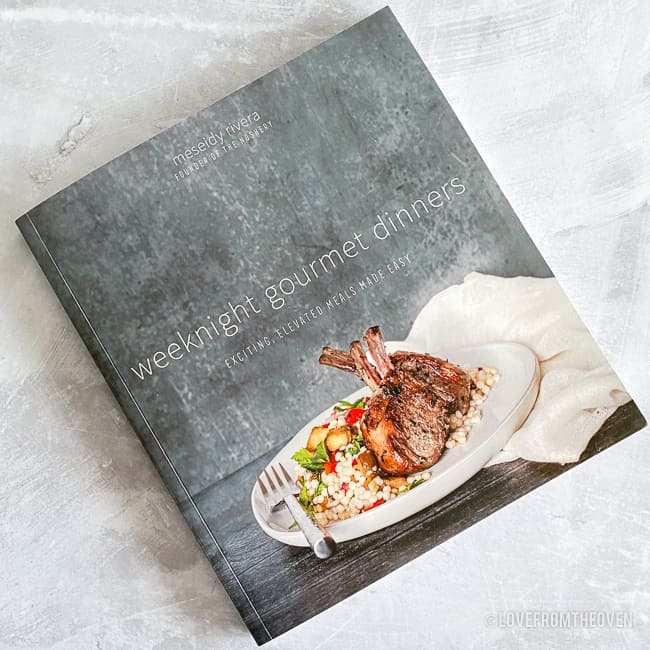 A copy of weeknight gourmet cookbook