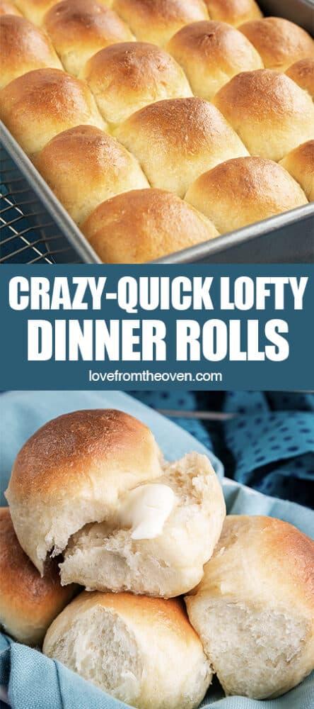 Bowl of dinner rolls