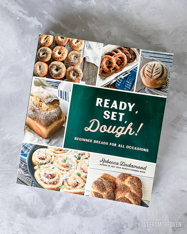 Picture of a cookbook called Ready Set Dough