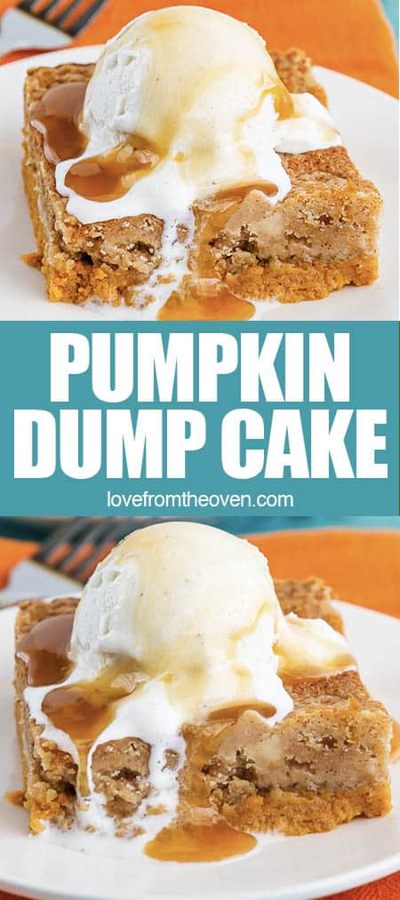 photos of pumpkin cake with ice cream on top