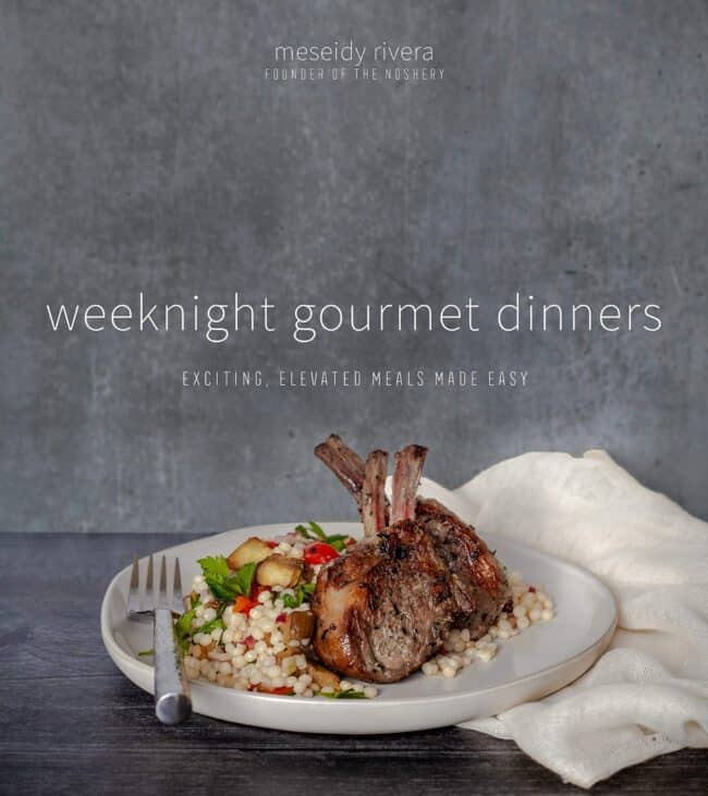 Cover of weeknight gourmet dinners cookbook