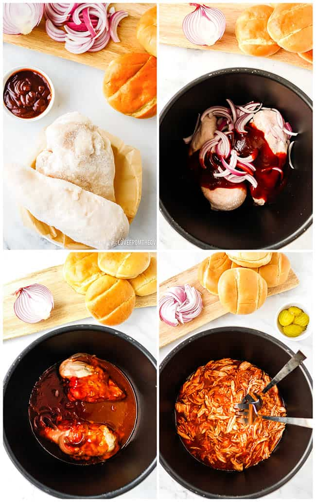 step by step photos to make bbq chicken sandwiches