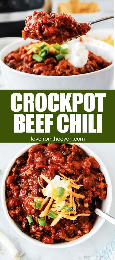 bowls of beef chili
