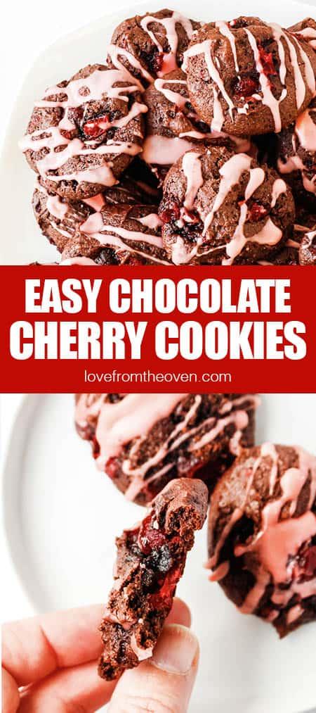 photos of cherry chocolate cookies