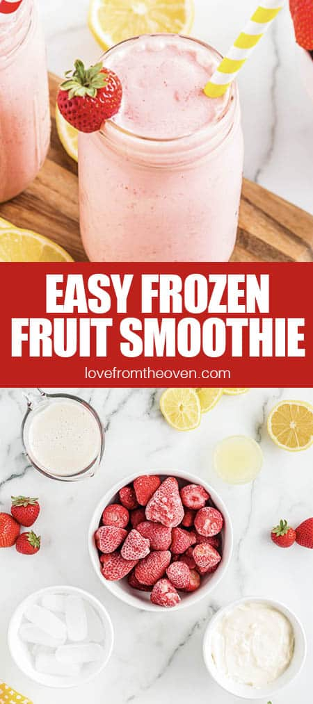 Frozen fruit and fruit smoothies
