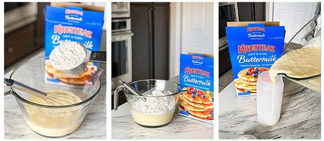 step by step photos making funnel cake