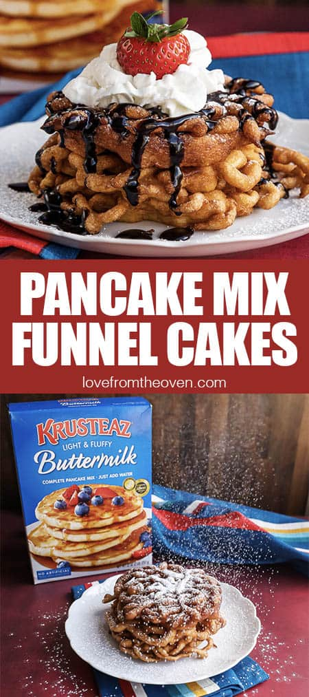 pancake mix and funnel cakes