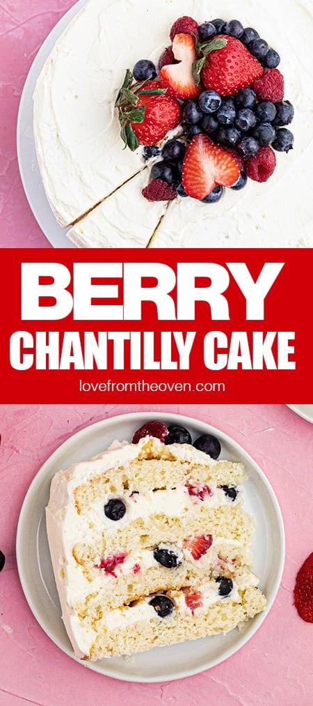 Photos of berry chantilly cake