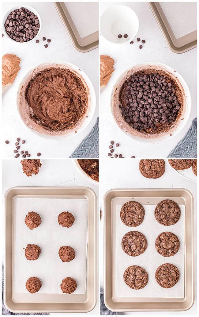 step by step photos making chocolate brownies cookies