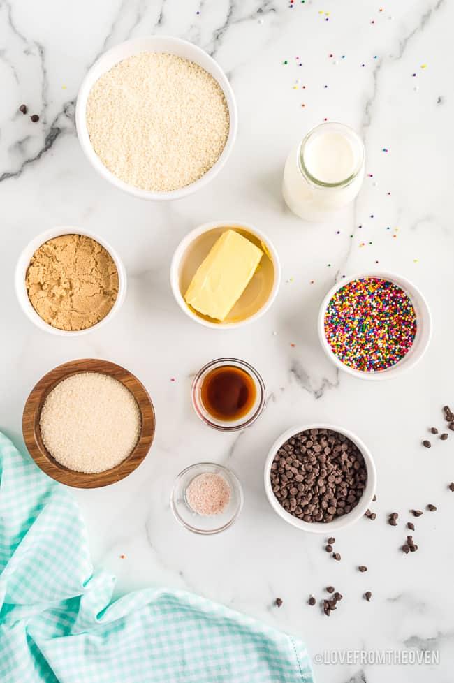 ingredients for cookie dough bites