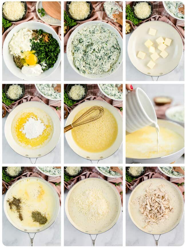 step by step photos of making alfredo lasagna