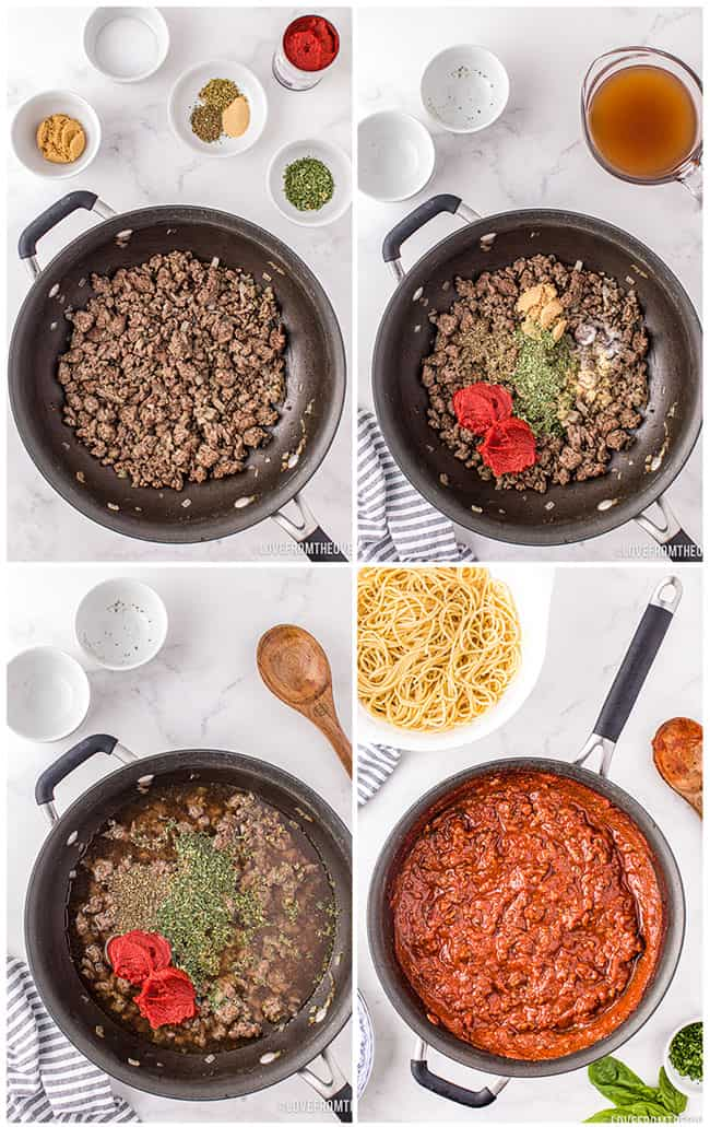 step by step photos of how to make homemade spaghetti sauce
