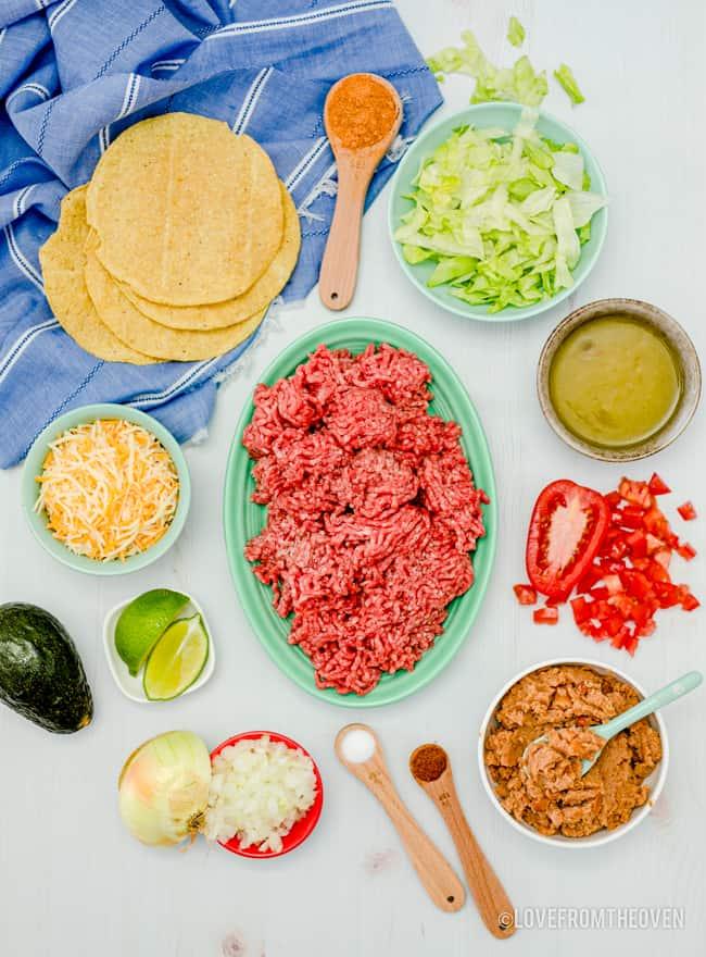ingredients to make tostadas