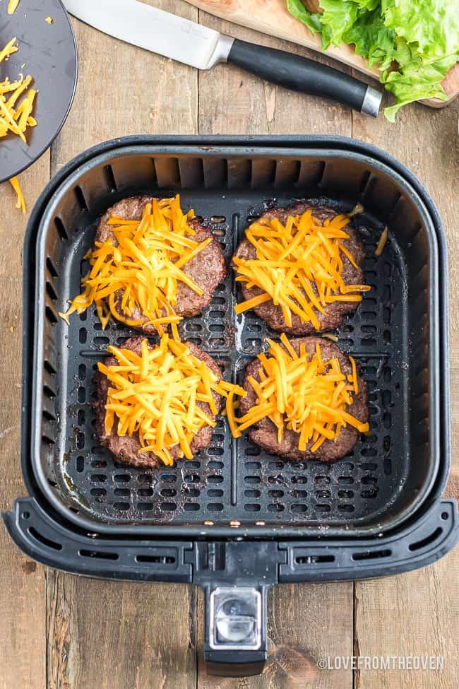 cheeseburgers in an air fryer