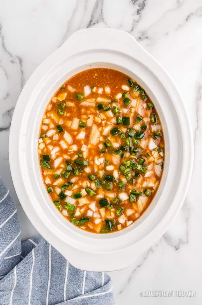 a crockpot of beans