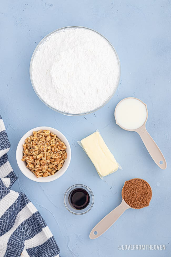 ingredients for chocolate frosting