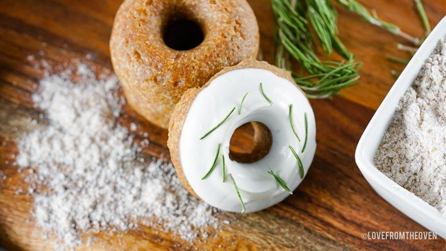 doughnuts for dogs on a wood surface
