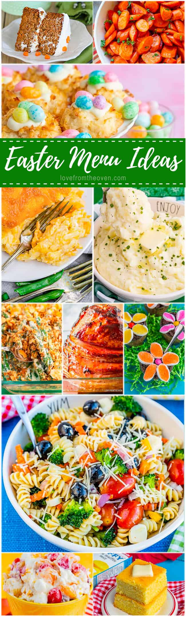 a variety of photos of easter dinner recipes