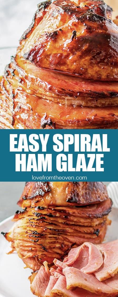 spiral ham with ham glaze