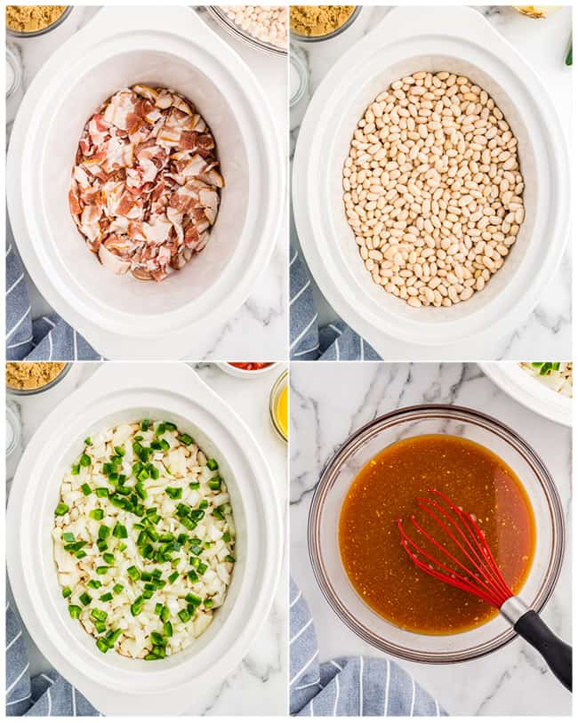 step by step photos to make crockpot baked beans
