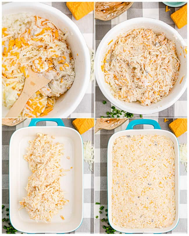 step by step photos to make a hash brown casserole