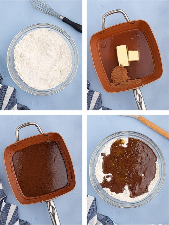 step by step photos to make sheet cake