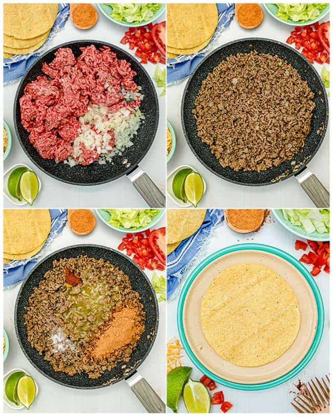 step by step photos cooking ground beef