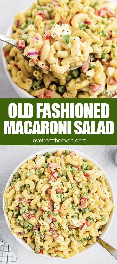 bowls of macaroni salad