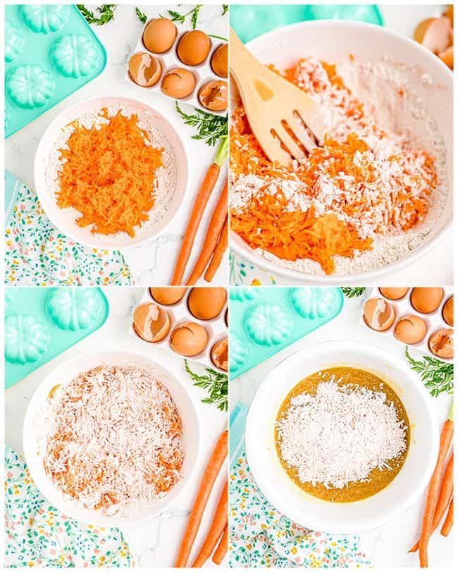 ingredients to make mini bundt cakes