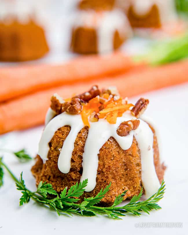 a bite size carrot cake
