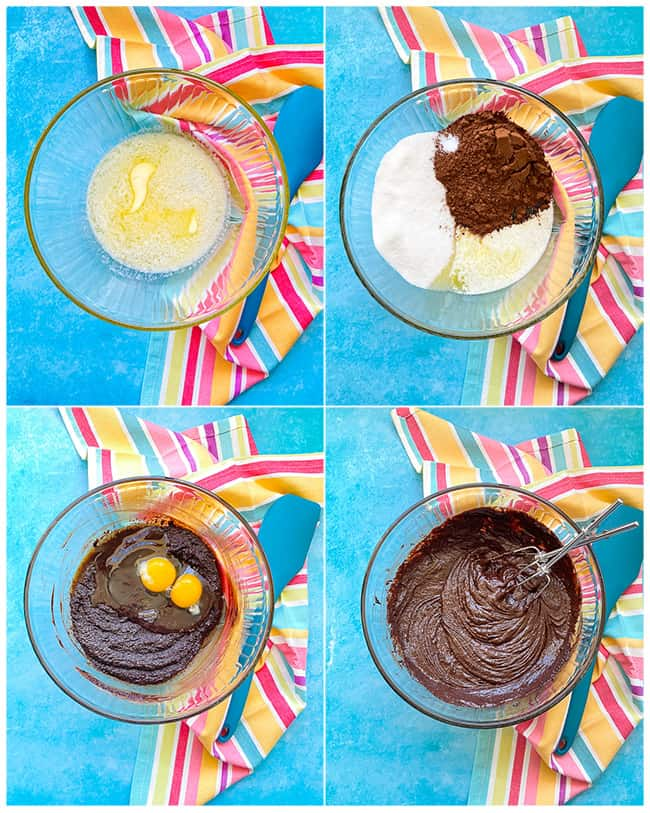 step by step photos to make mms brownies