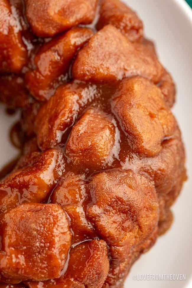 close up shot of monkey bread