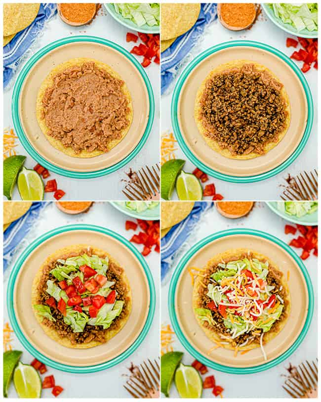 step by step photos topping tostadas