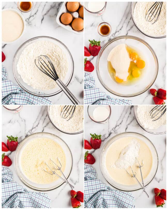 step by step photos to make tres leches cake